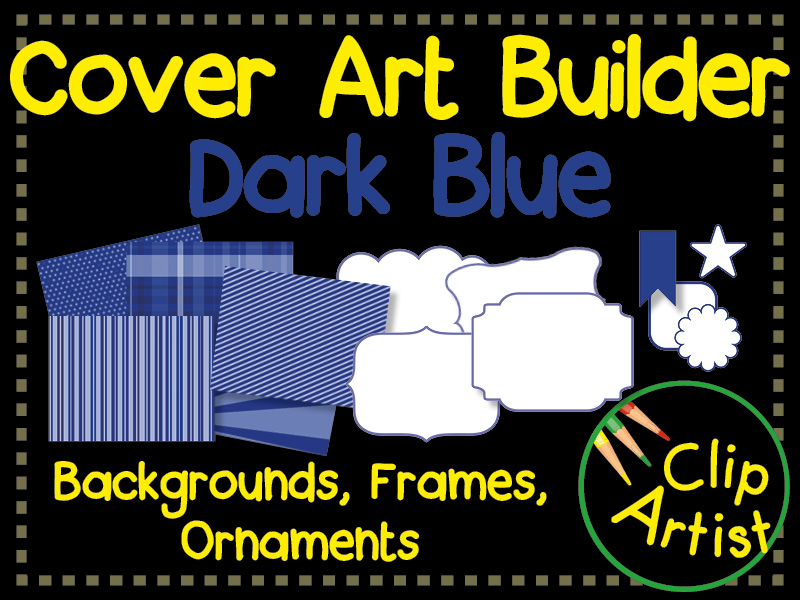 Cover Builder for Authors and Presentations - Dark Blue