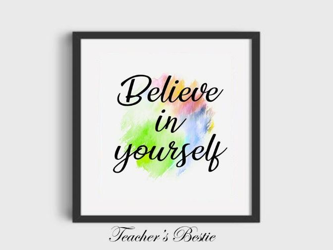 digital prints wall art, Believe in yourself, art poster, decor, typography,instant download, print
