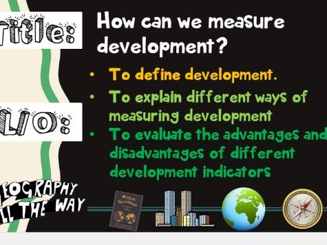 How can we measure development?