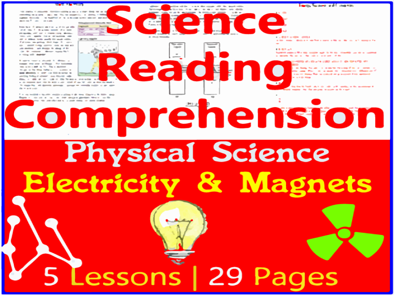 Physical Science Reading Passages | Electricity & Magnets | Grade 5-6