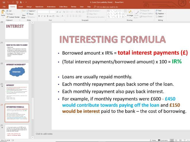 3. Costs and Interest - Topic 1.3 - Edexcel GCSE Business - Theme 1