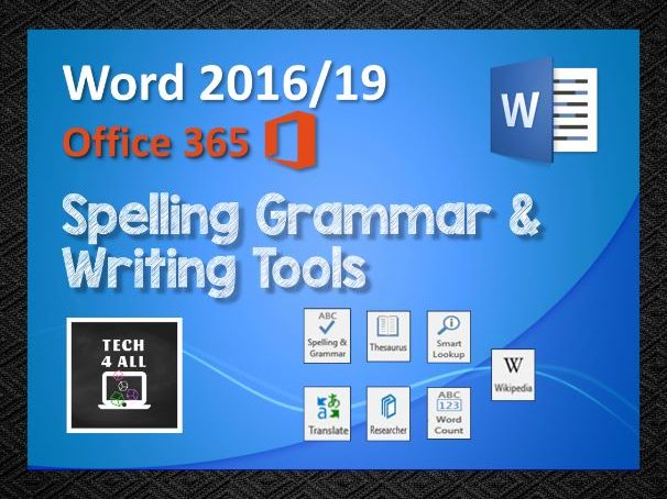 Spelling Grammar and Writing Tools in Microsoft Word