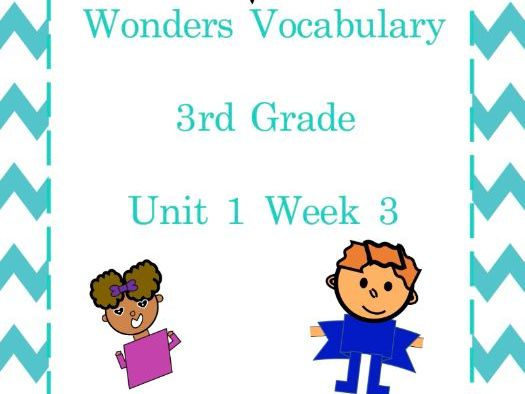 Wonders - 3rd grade unit 1 week 3 vocabulary