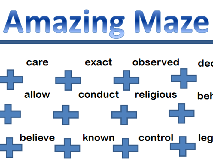 Prefix secret maze game for KS2 and KS3