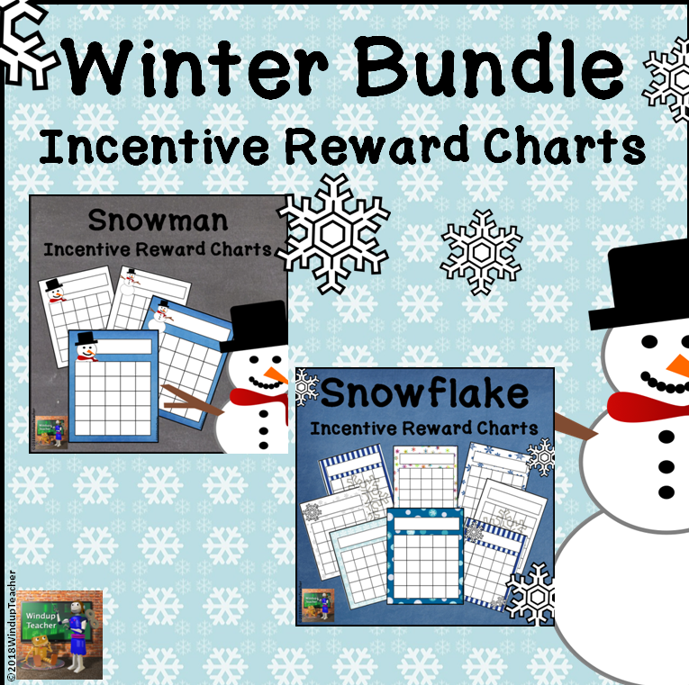 Winter Incentive Reward Sticker Charts BUNDLE