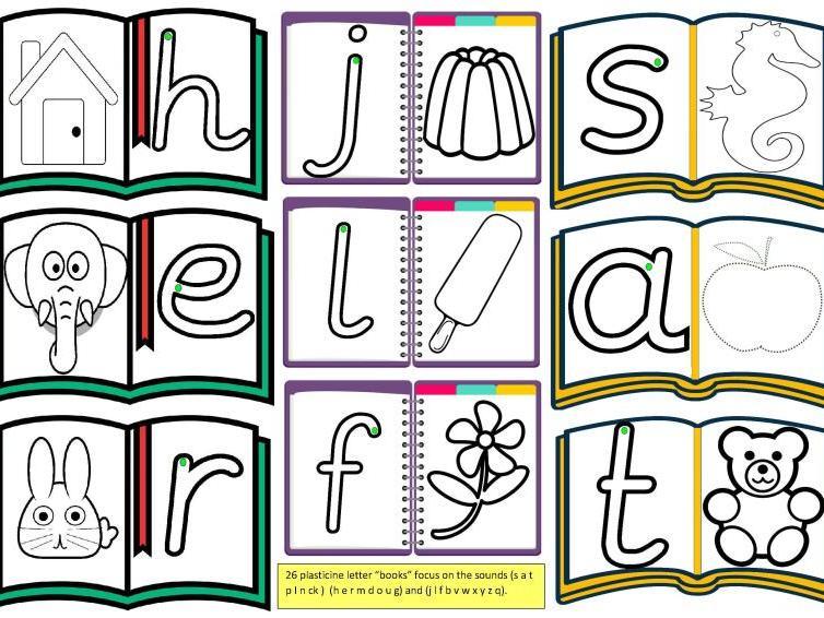 Plasticine Letter Books
