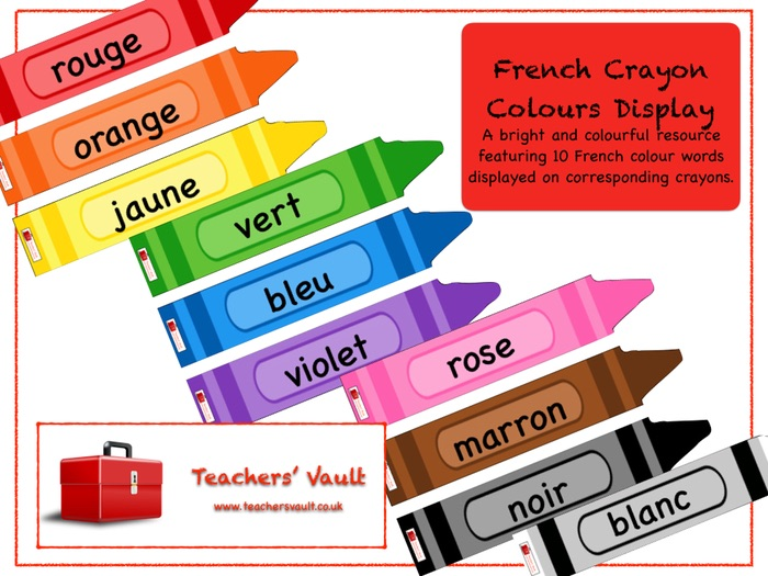 how to say crayon in french