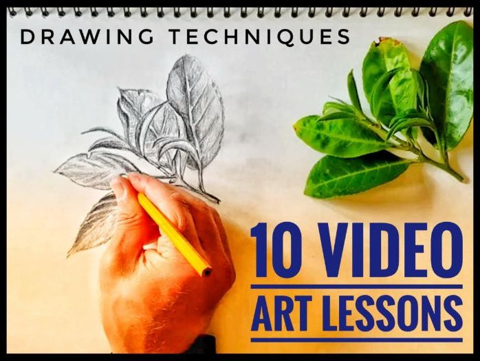 Home Learning / Homeschooling. Art Video Lessons. Drawing Techniques
