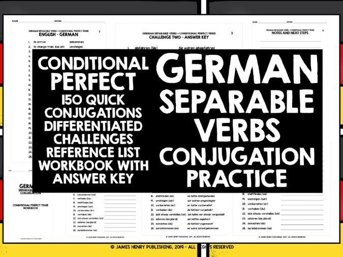 GERMAN SEPARABLE VERBS CONJUGATION PRACTICE #8