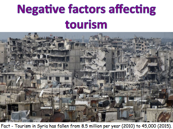 KS3 Tourism - Negatives factors affecting tourism