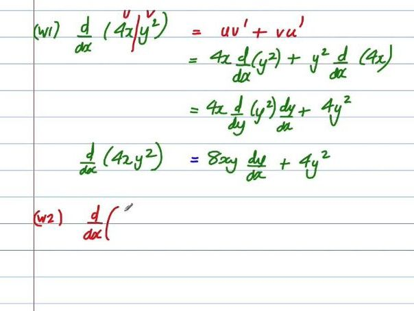 Edexcel A level Pure Maths Chapter 12 differentiation