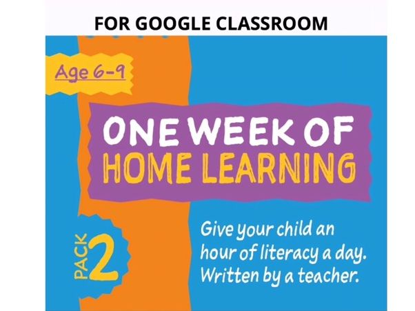 Digital Distance Learning Resource For Google Classroom: Pack 2 (6-9 years)