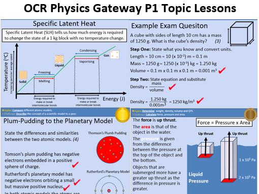 GCSE OCR Physics: P1 Matter Full scheme