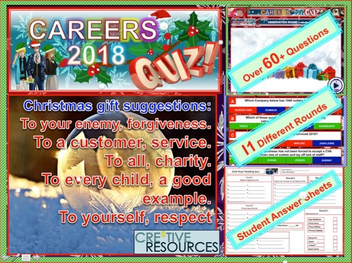 Careers Christmas Quiz 2018: Careers Education