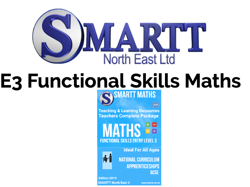 Functional Skills E3 Maths Complete Teacher/Tutor Package  **(special offer) **