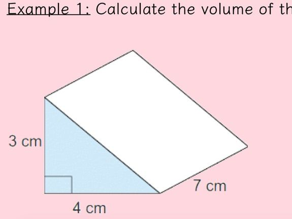 Volume of Triangular Prisms lesson + worksheets
