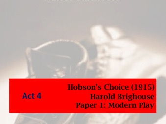 Hobson's Choice Act 4 Lessons