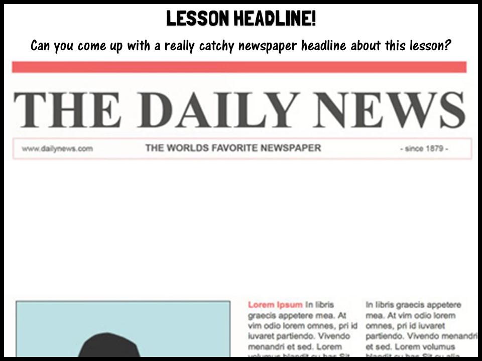 Lesson headline!