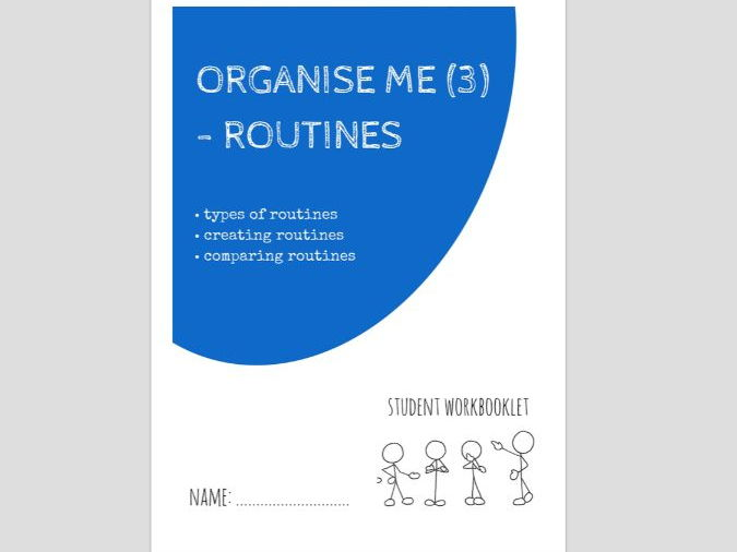 SPECIAL EDUCATION - ORGANISE ME (3) - ROUTINES AND PLANNING workbooklet
