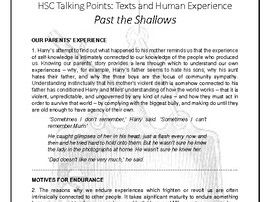 HSC Common Module: Past the Shallows Essay AND Talking Points