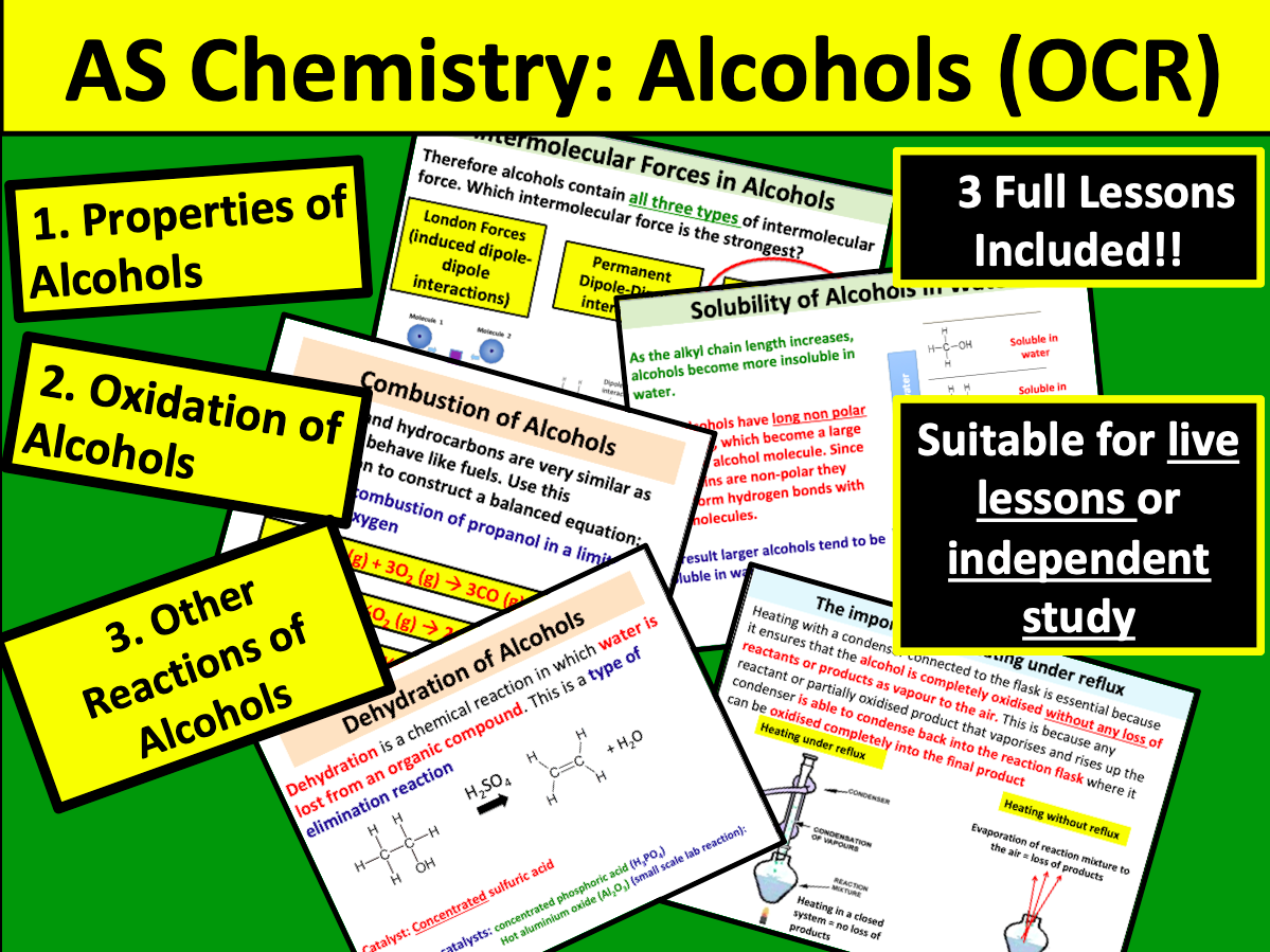 AS Chemistry: Alcohols (OCR)