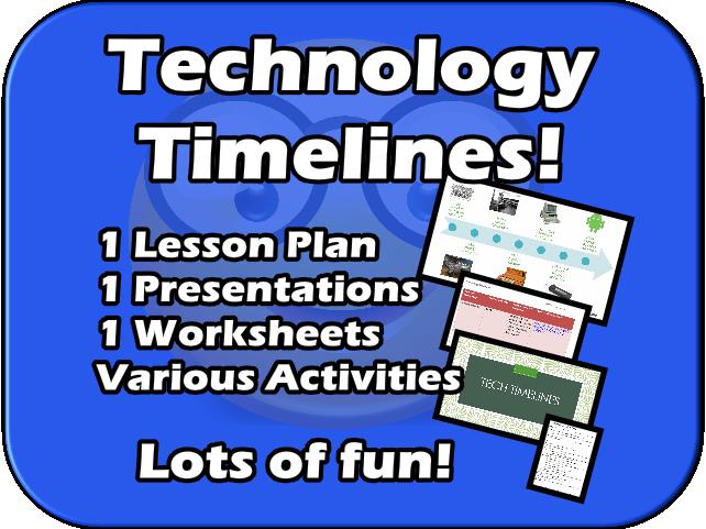 Technology Timelines!  Fun, Editable, Creative lesson