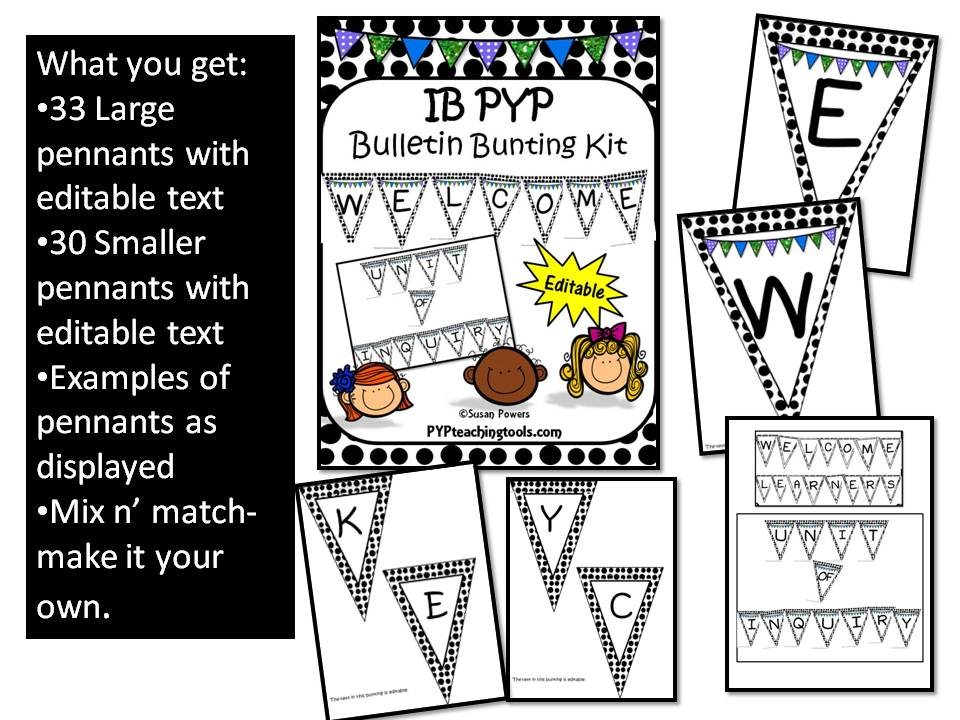 Back to School IB PYP Bulletin Board Kit
