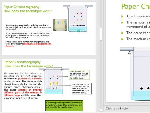 IGCSE Combined Science Experimental Techniques- Paper Chromatography