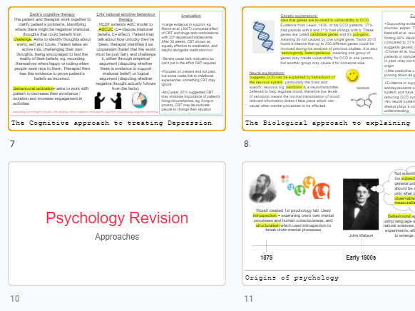 Approaches and Psychopathology