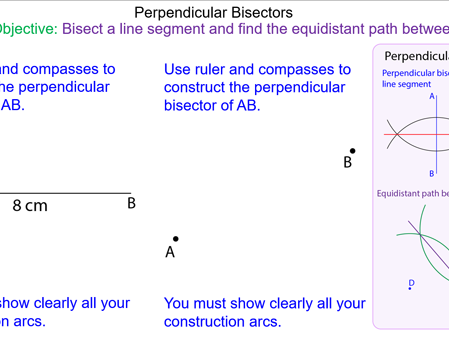Perpendicular Bisectors and Equidistant Paths