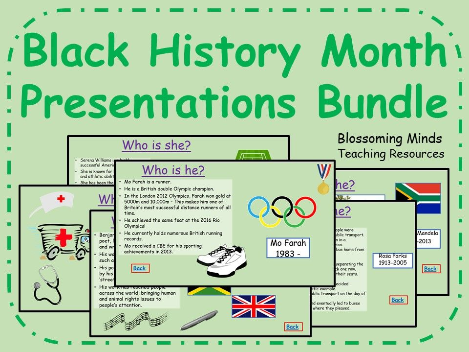 Black History Month Presentations Bundle
