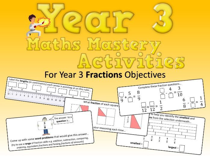 Fractions Mastery Activities – Year 3