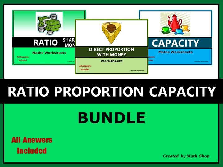 Ratio Proportion Capacity Bundle