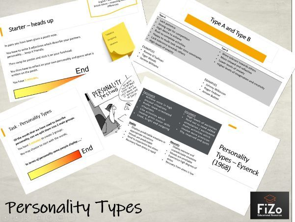 BTEC Sport L3 - Personality Types