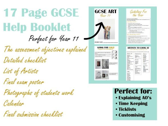 Booklet for GCSE  Art students- fully editable