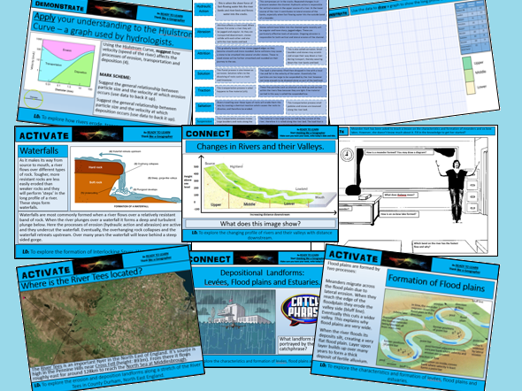 GCSE GEOGRAPHY AQA 9-1 River Landscapes in the UK SoW
