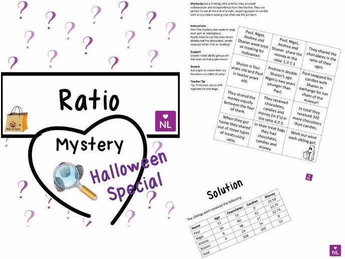 Ratio of Amounts Halloween (Mystery)
