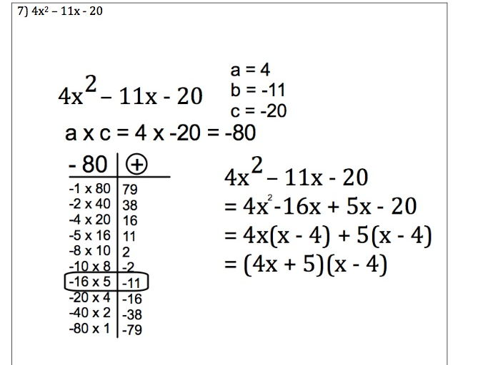 GCSE Maths - Factorising Quadratics when a not 1 Questions with Worked Answers.