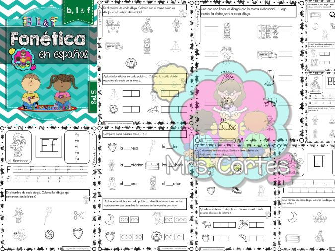 Spanish Phonics Book Set #5: Letras b,l & f