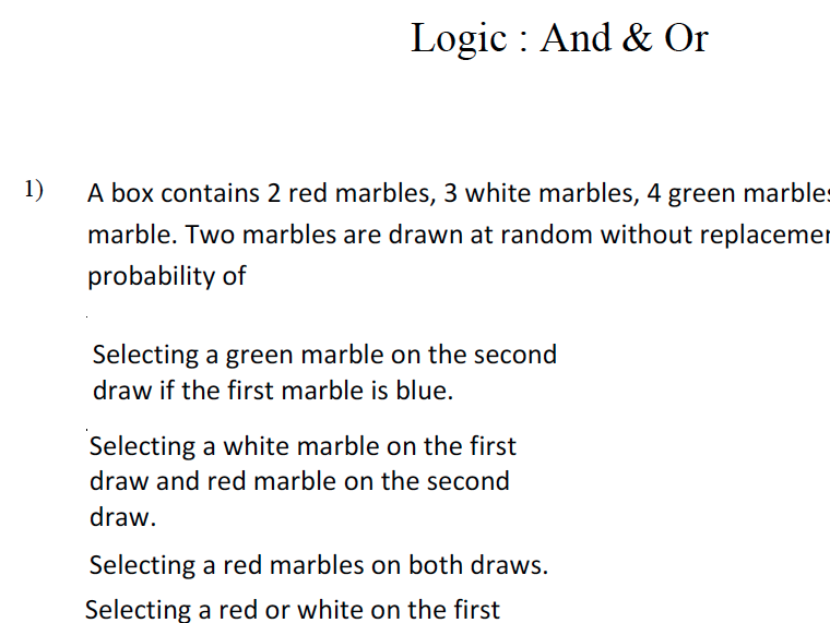 GCSE Maths Revision Logic : And & Or