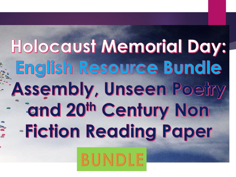 Holocaust Memorial Day 2018 Bundle