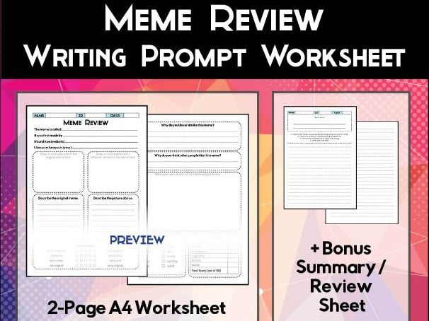 Meme Review Worksheet