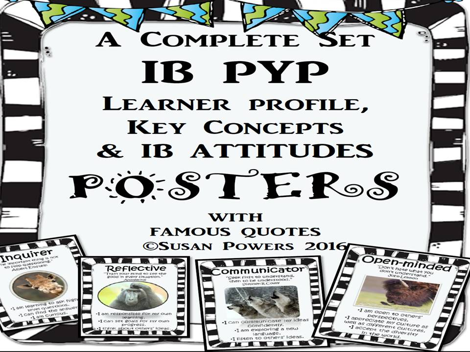 A Complete Set of IB PYP Classroom Posters with Famous Quotes