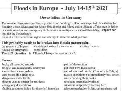 Floods In Europe July 2021