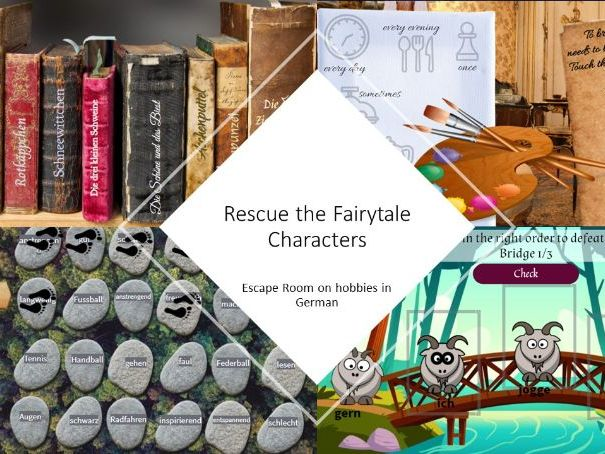 Rescue the fairytales - Escape room on hobbies for beginners