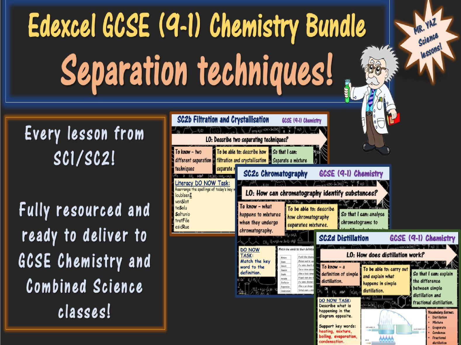 Separation Techniques GCSE (9-1) Chemistry Bundle