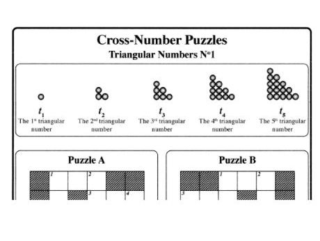 Cross-Number Puzzles: Triangular Numbers No1