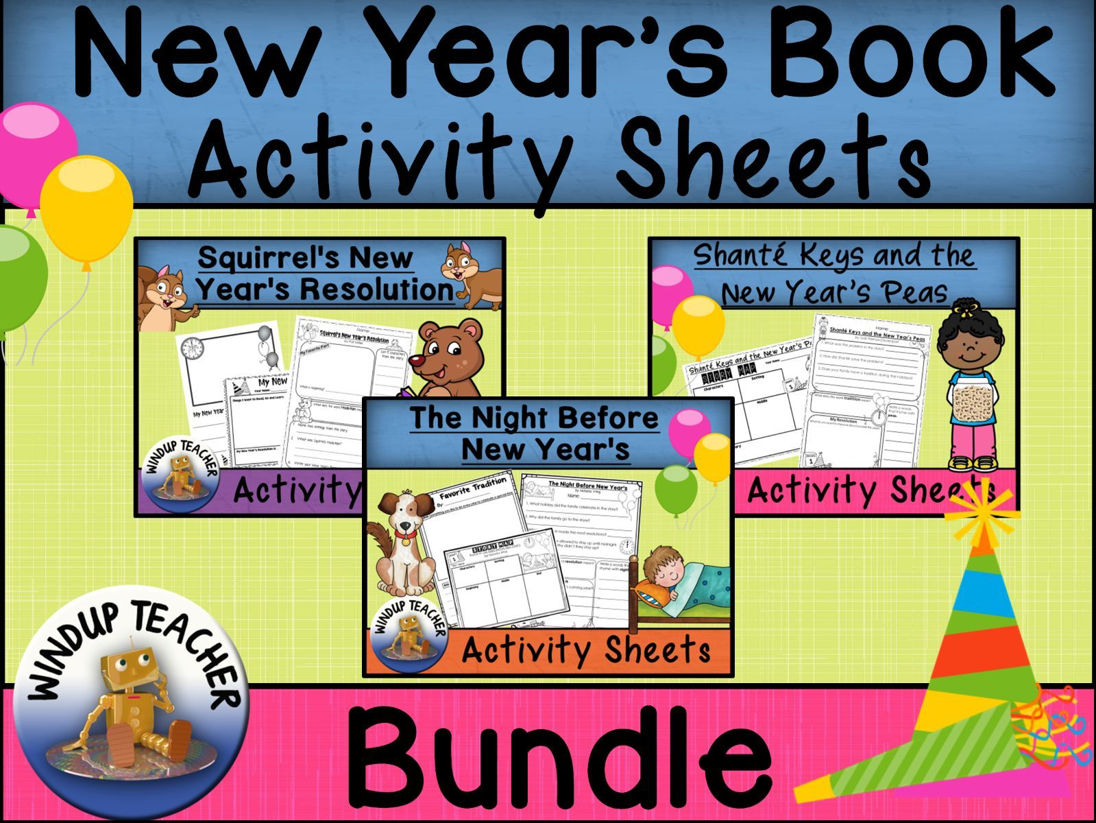 New Year's Picture Book Activities BUNDLE
