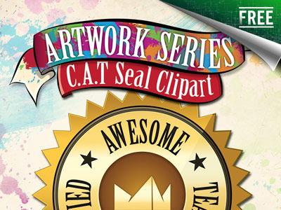 C.A.T. Seal Clip Art - Free Teacher Clip Art