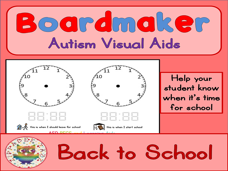 Back to School Visual Aids Clock - Boardmaker Visual Aids for Autism PECS